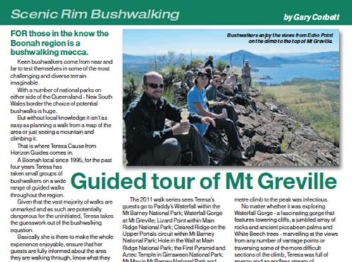 Horizon Guides Walks featured in Our Lifestyle Magazine